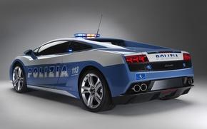 Обои полиция, Lamborghini, gallardo