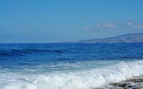 Картинка камни, морская пена, Средиземное море, волка