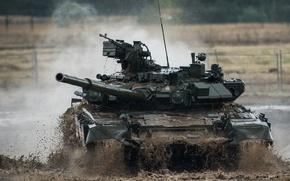 Картинка грязь, танк, бронетехника, Т-90