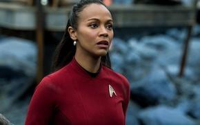 Картинка cinema, girl, Star Trek, soldier, dress, woman, war, movie, face, film, human, head, attack, uniform, …