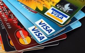 Картинка plastic, money, credit cards, Visa