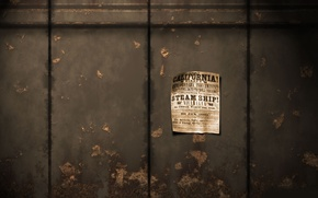 Картинка лист, стена, разное, 1680x1050, объявление