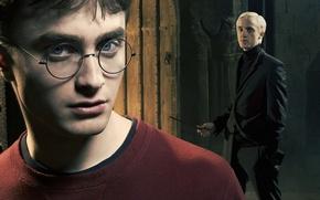 Картинка взгляд, лицо, Гарри Поттер, Harry Potter, Draco Malfoy, Драко Малфой