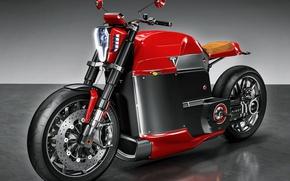 Обои beautiful, electric motorcycle, Tesla, beauty on wheels, wallpaper, 4k, bold lines, electric motor, technology, Tesla ...
