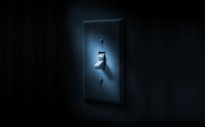 Картинка темнота, смерть, надпись, игра, полумрак, постер, dead, выключатель, алан уэйк, Alan Wake