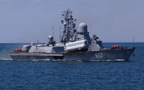 """Картинка ВМФ, Черное море, МРК, Черноморский Флот, ракетный корабль, """"Мираж"""""""