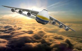 Картинка sky, airplane, мрия, ан-225, an-225, mriya