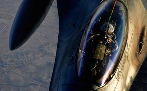 Обои авиация, F-16, экспедиционная, истребительная