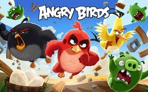 Картинка cinema, animation, Red, game, sky, bird, wings, feathers, cartoon, movie, series, film, friends, angry, Angry …