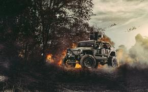 Картинка Nature, Fire, Cars, Front, Wrangler, Jeep, Off Road, Planes, FullMetalGunner