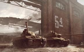 Картинка WoT, World of Tanks, Мир Танков, Wargaming Net, Средние Танки, Промзона, TVP T 50/51, 9.13, …