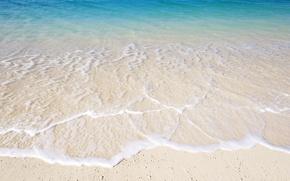 Обои песок, вода, берег