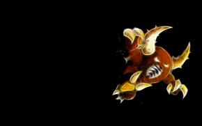 Картинка когти, рога, horns, покемон, pokemon, неоновые линии, pinsir, пинцер, жвала