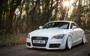 Картинка Audi, Car, White, Wheels, Stanceworks