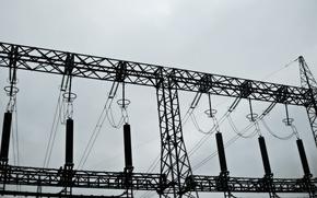 Картинка провода, электричество, опора, лэп, высоковольтки, pylon