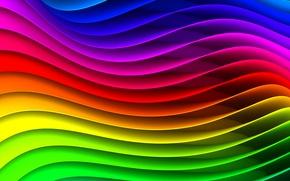 Картинка волны, полосы, радуга, спектр, круговорот