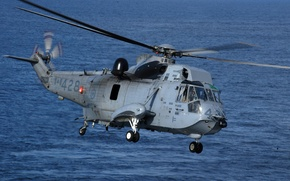 Картинка океан, вертолет, Sikorsky, Aero, Engineering Corporation, CH-124 Sea King