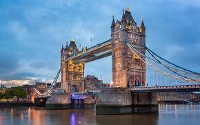Картинка река, Лондон, Темза, Тауэрский мост