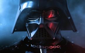 Обои маска, блики, цепь, Star Wars, Darth Vader