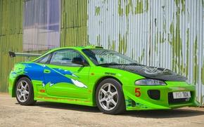 Картинка car, авто, зеленый, супер, форсаж, Mitsubishi Eclipse