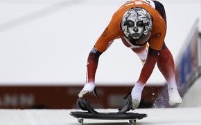 Картинка шлем, спортсмен, Skeleton