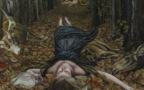 Картинка картина, норвежский художник, Christer Karlstad, Threnody