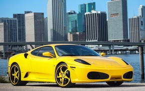 Картинка ferrari, f430, yellow