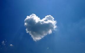 Картинка сердце, облако, синива