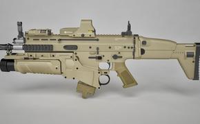 Картинка gun, weapon, rifle, assault rifle, FN Scar, ordnance, FN Herstal Belgium, cal 7.62, grenade launcher, …