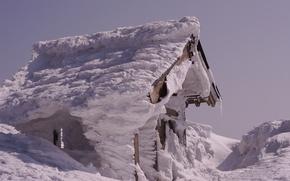 Картинка Snow, winter, cabin