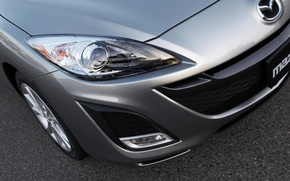 Картинка авто, стиль, перед, мазда, aluminium metallic