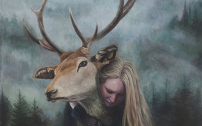Картинка картина, норвежский художник, Christer Karlstad, Monarch