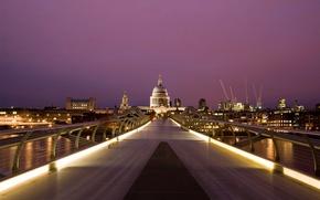 Картинка Англия, Лондон, Millennium, Cathedral, Bridge, Saint, Paul's