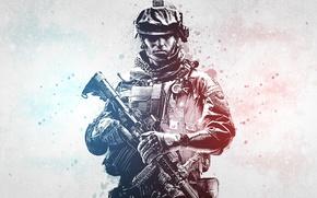 Картинка Battlefield, оружие, сине-красный