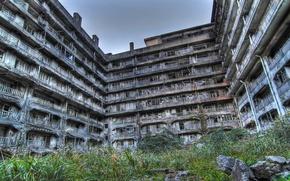 Картинка building, abandoned, Hashima Island in Japan