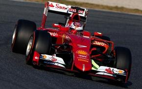 Картинка Феррари, Формула 1, Ferrari, Kimi, Raikkonen, Formula 1, Spain, 2015, Tests, SF15T