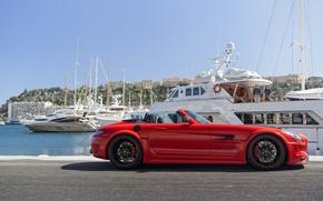 Картинка Mercedes-Benz, Red, SLS AMG, Hamann Hawk