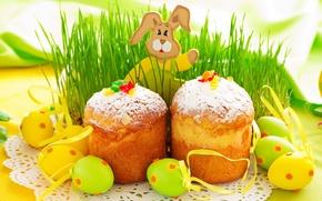Картинка праздник, весна, кулич, выпечка, spring, Easter
