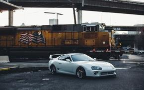 Картинка turbo, supra, japan, grey, toyota, jdm, tuning, power, america, low, stance, trein