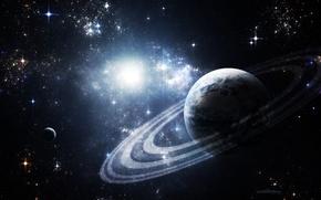 Картинка космос, звезды, планета