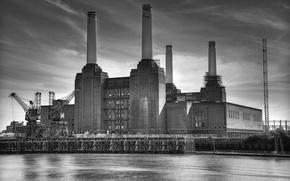 Картинка city, город, Лондон, фотограф, photography, London, Lies Thru a Lens, Battersea Power Station, Электростанция Баттерси