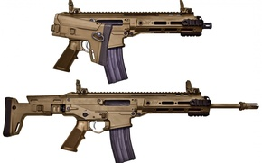 Картинка gun, weapon, rifle, Remington, Remington ACR, folding stock, standard model