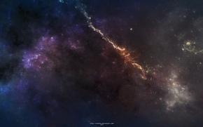 Картинка звезды, свет, туманность, созвездие, omaet nebula
