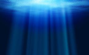 Обои океан, лучи, вода, глубина