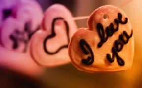 Картинка любовь, надпись, сердце, сердечки, love, признание, чувство, 14 февраля, Valentine's day, нитка