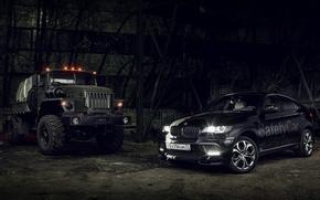 Обои ангар, краз, BMWх6