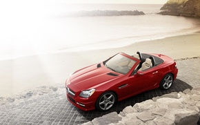 Картинка Roadster, Mercedes, Red, Cars, SLK