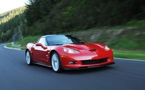 Обои красный, шевроле, Corvette, Chevrolet, ZR1, автомобиль