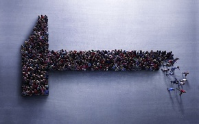 люди, толпа, молоток обои