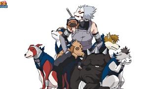 Картинка game, Naruto, Hunter, anime, dog, man, tatoo, ninja, Sharingan, mask, Uchiha, manga, shinobi, Kakashi, Hatake, …